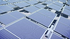 117 Solar panel array - stock footage