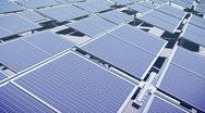 Stock Video Footage of 117 Solar panel array