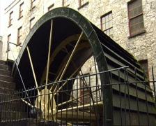 Mill wheel turning Stock Footage