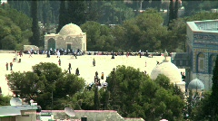 Temple Mount pan 2 Stock Footage