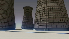 117 cooling towers base Stock Footage