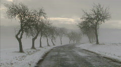 Winter road - stock footage