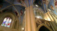 Inside a church 1 Stock Footage
