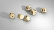 Dices - 36, alpha channel Stock Footage