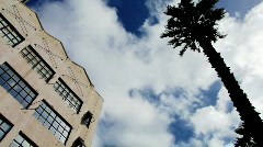 Clouds over building  - stock footage