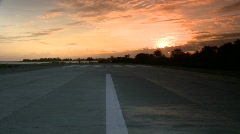 Airfield end in sunset Stock Footage