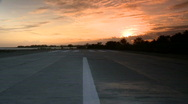Stock Video Footage of Airfield end in sunset