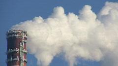 Smoke stack - stock footage