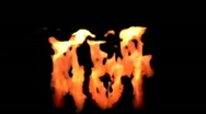 Hot on fire - CGI Stock Footage