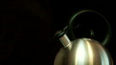 Kettle Boiling Stock Footage