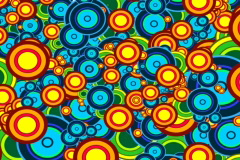 Bright spring background with circles, vj NTSC Stock Footage
