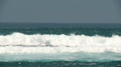 Waves in slow motion  - stock footage