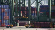 Stock Video Footage of Industrial Port