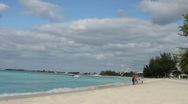 Stock Video Footage of Beach Scene - 7 Mile Beach Grand Cayman