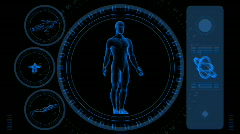 Male Scan Screen - Hi-tech 08 (HD) Stock Footage