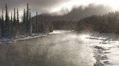 Canada: Bow River in Winter Stock Footage
