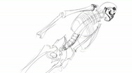 Stock Video Footage of skeleton sketch
