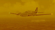 Stock Video Footage of airplane in yellow tone