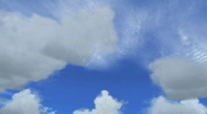 Stock Video Footage of clouds 3d