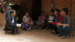 Laos: Christian Bible Study Stock Footage