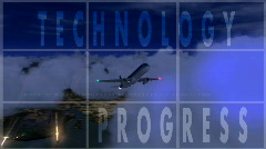 Technology collage Stock Footage