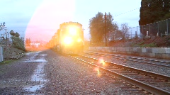 Freight Train Drive By Stock Footage
