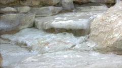 Stone Waterfall Stream Stock Footage