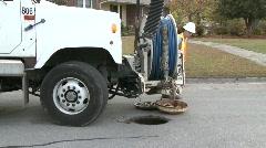 Sewer Worker sanitation Stock Footage