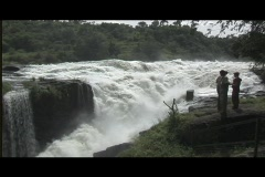 Murchison Falls - Waterfall on River Nile, Uganda Stock Footage