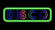Stock Video Footage of Neon Disco 80s Loop