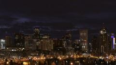 Stock Video Footage of Close up Time lapse of Denver Skyline