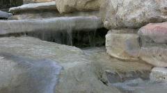 Stone Mini Waterfall Stock Footage