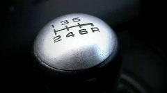 6 Speed Stick Shift Knob - stock footage