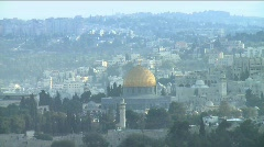 Temple Mount zoom out 2 Stock Footage