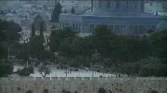 Temple Mount zoom out Stock Footage