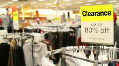 Department Store Clearance Sale - stock footage