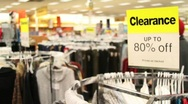 Stock Video Footage of Department Store Clearance Sale