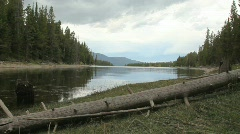 Jackson Lake in Grand Tetons National Park Stock Footage