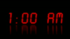 Waking Up Digital numbers counting Stock Footage