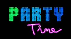 Retro Neon Party Loop Alpha Stock Footage
