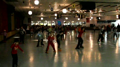 Roller skating rink - stock footage