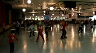 Stock Video Footage of Roller skating rink