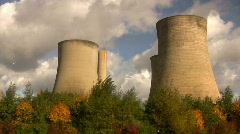 Cooling towers - stock footage