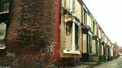 Run down derelict housing 2 Stock Footage