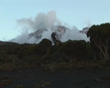 Kilimanjaro view from shira kamp Stock Footage