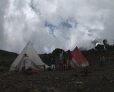 Cook kilimanjaro Stock Footage