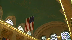 Grand Central Station, New York, interior Stock Footage