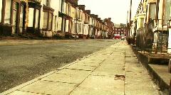 Run down derelict housing 5 Stock Footage