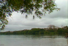 Congo River boat 05 Stock Footage