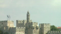 Tower of David - Zoom out 2 Stock Footage